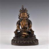 CHINESE BRONZE BUDDHA FIGURE OF FOUR ARMS CUNDI,