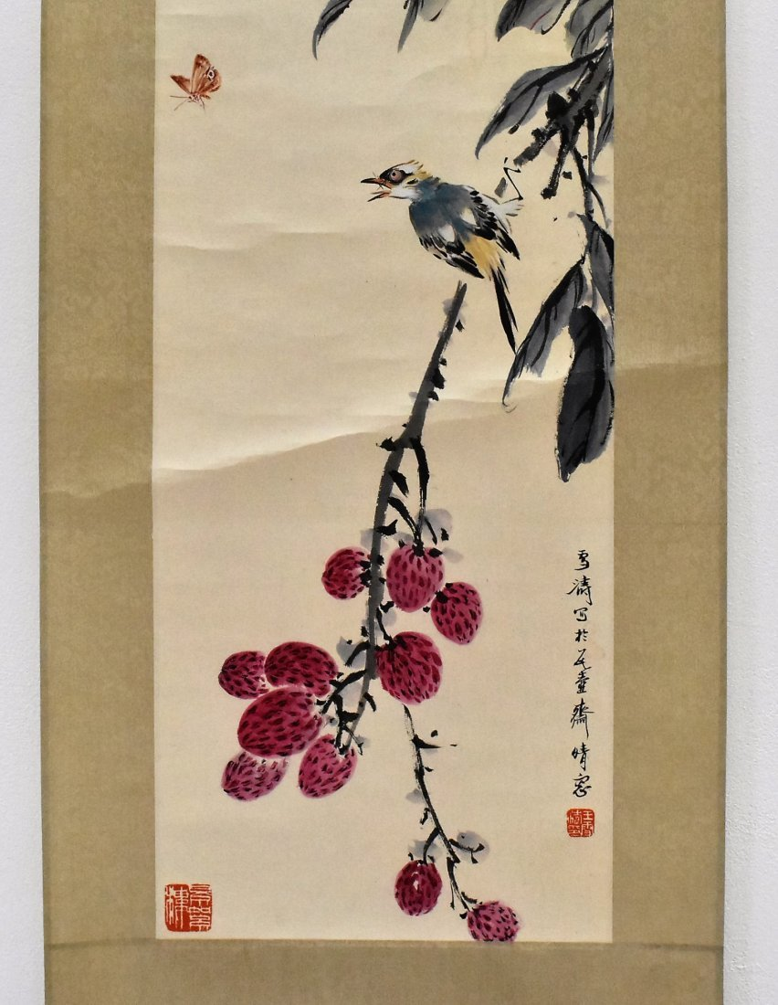 SET OF 3 PCS CHINESE SCROLL PAINTINGS - 3