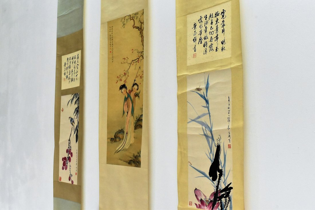 SET OF 3 PCS CHINESE SCROLL PAINTINGS - 6