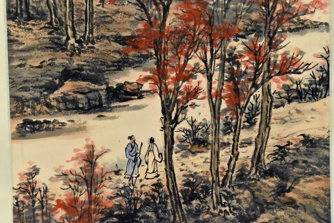SET OF 4 PCS CHINESE SCROLL PAINTINGS - 3