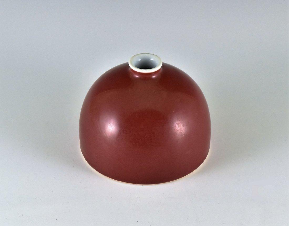 FINE IRON-RED GLAZED BEEHIVE BRUSH WASHER - 2