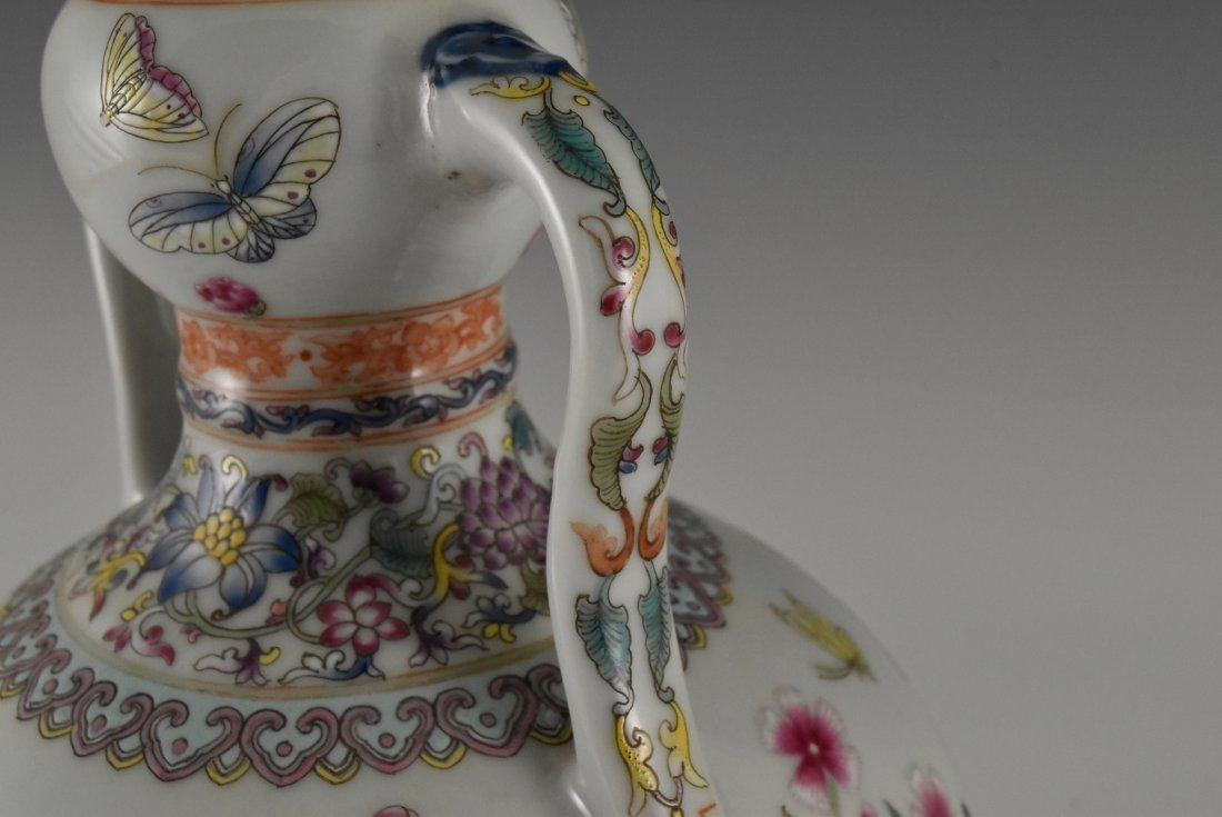 BUTTERFLIES AND FLOWERS CHINESE FAMILLE ROSE VASE - 10