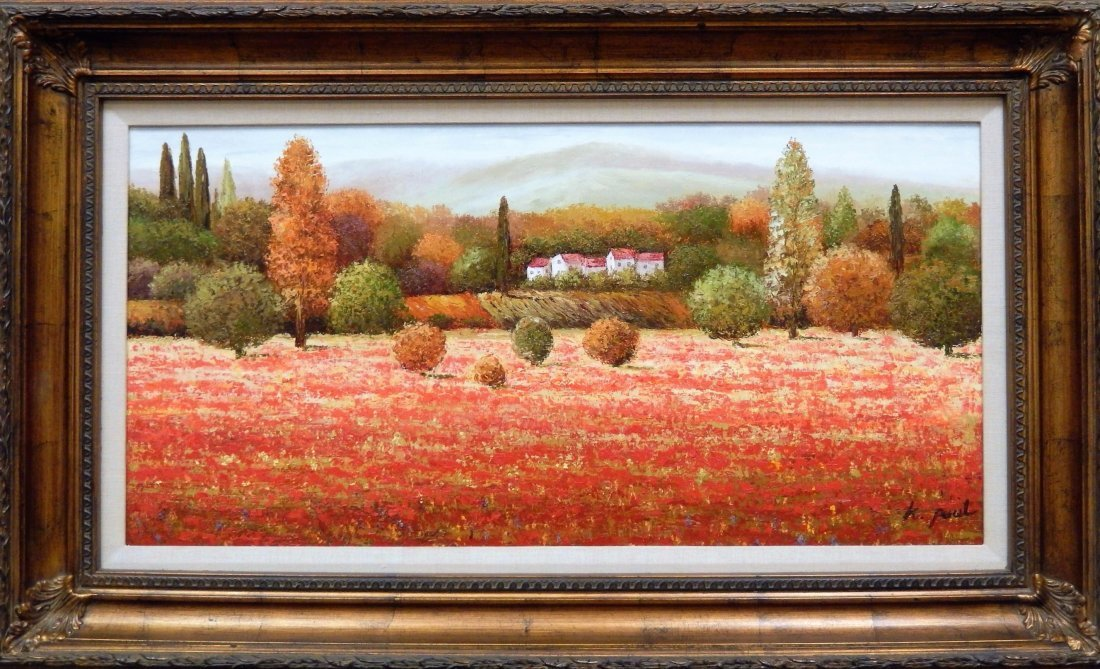 K PAUL, RED FIELD LANDSCAPE