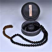 CHENXIANG WOOD PRAYER BEADS NECKLACE IN BOX