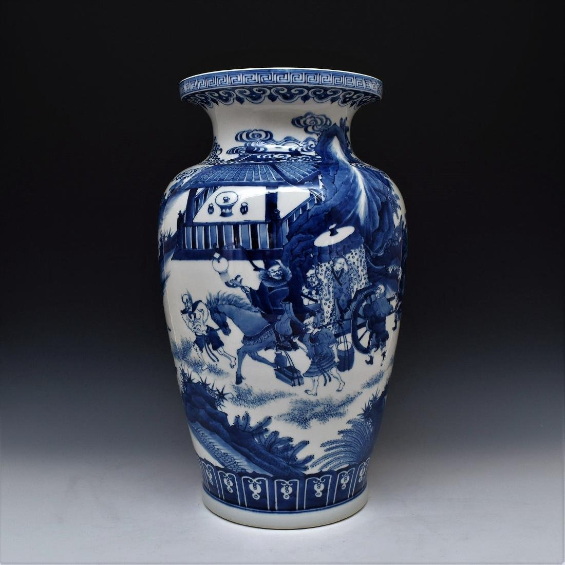 LARGE BLUE & WHITE PORCELAIN VASE, YONGZHENG MARK