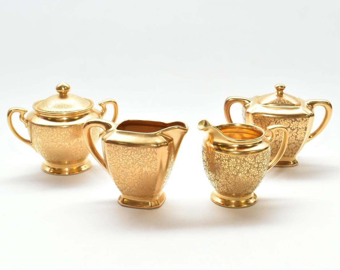 SET OF 4 PCS 22KT GOLD CHINA TEA SET