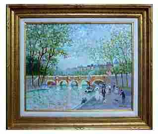 MONNARO, PARIS RIVER SCENE