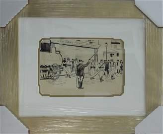 **Ludovic Rodo Pissaro Original Illustration from 1930.