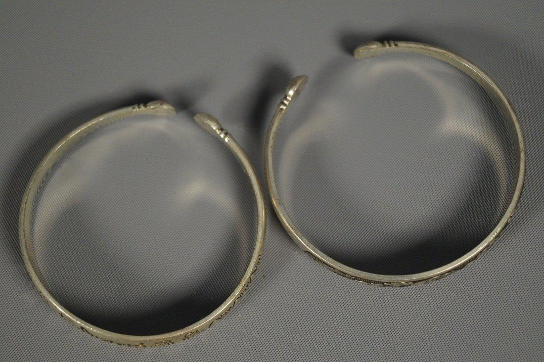 a pair of Tibetan Silver  Bracelets
