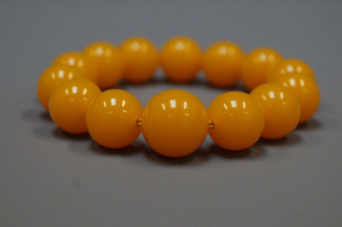 Golden beeswax bracelet