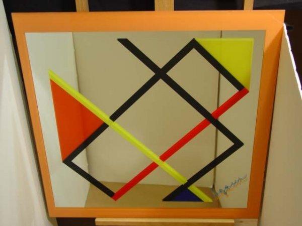 "103:   AGAM, YAACOV     Title:  ""Le Mondrian on Mirror"""