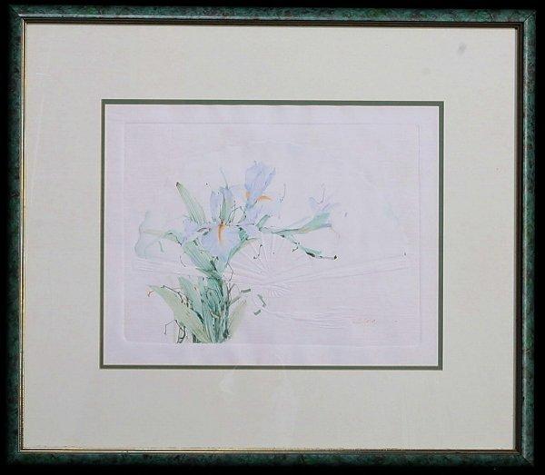 "115:   ARTIST UNKNOWN     Title:  ""Flower Embossed"""