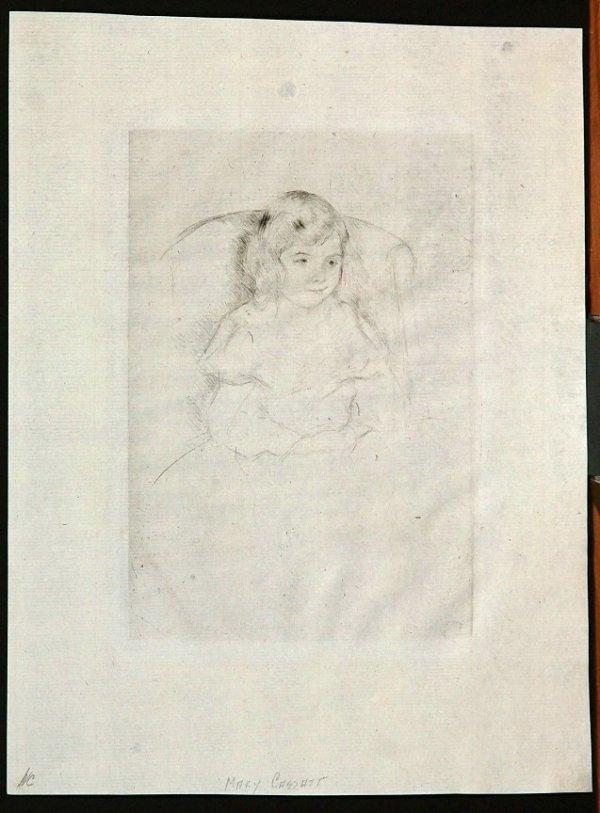 111:  CASSATT,    MARY,   American 1844-1926,