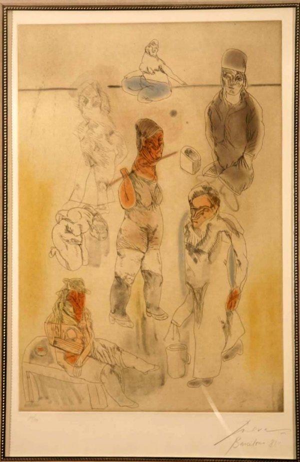 116:  CUEVAS,    JOSE LUIS,  Mexican b. 1934,