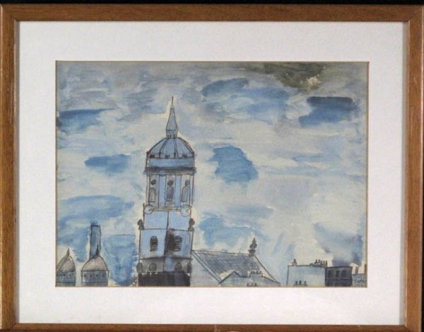 A SMALL COLLECTION,  BRITISH WATERCOLORS,  20th centur