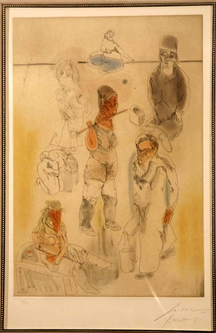 112:   CUEVAS,    JOSE LUIS,  Mexican b. 1934,