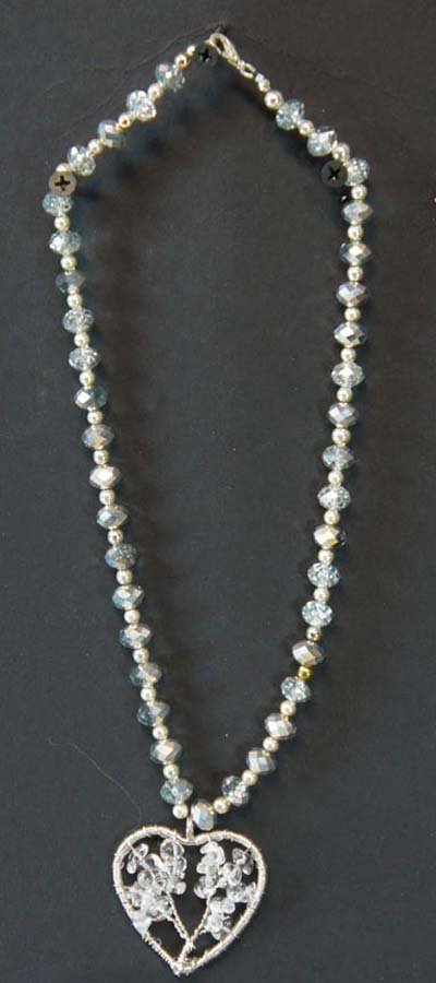 101:  SILVER CRYSTAL,  SILVER AND CRYSTAL BEADS WITH CR