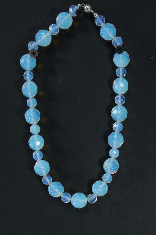 104:  OPALITE BEADS,  WITH BLUE TONE,   ,