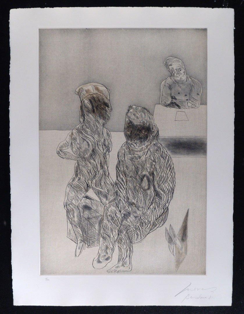 135:  CUEVAS,    JOSE LUIS,  Mexican b. 1934,