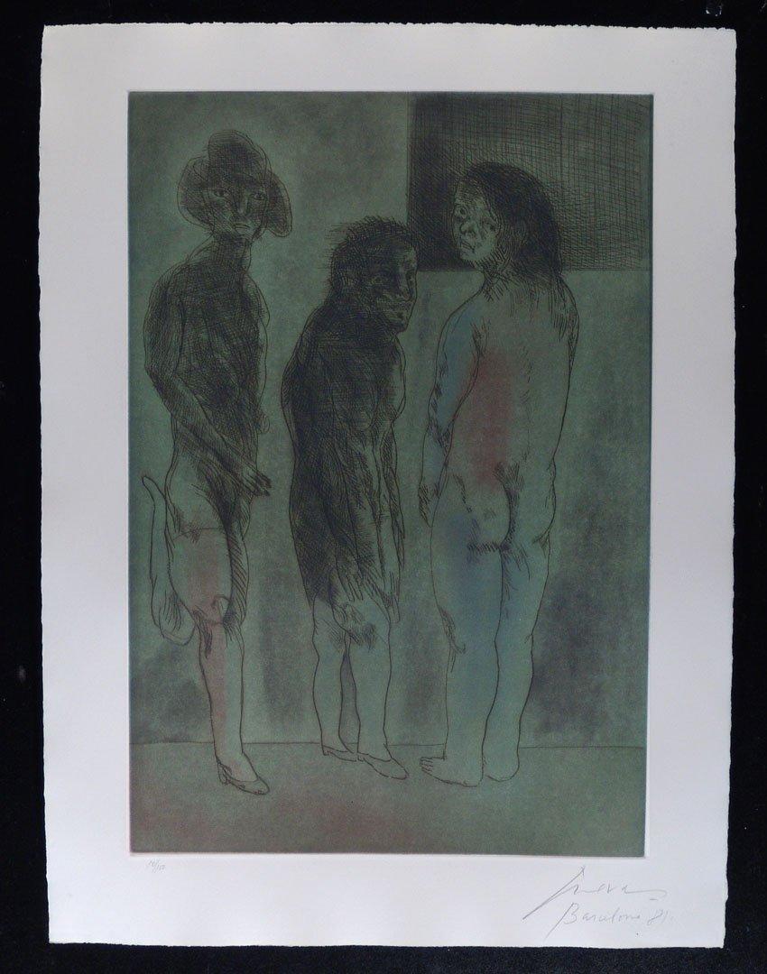 136:  CUEVAS,     JOSE LUIS,  Mexican b. 1934,