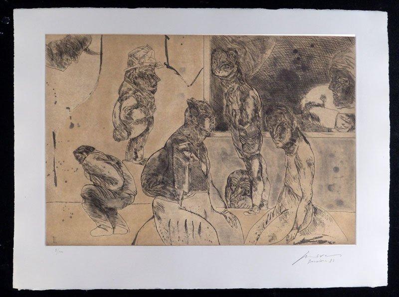 137:  CUEVAS,    JOSE LUIS,  Mexican b. 1934,