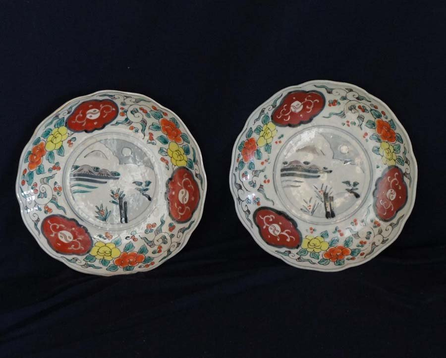 113:  JAPANESE-TWO PLATES,  .,