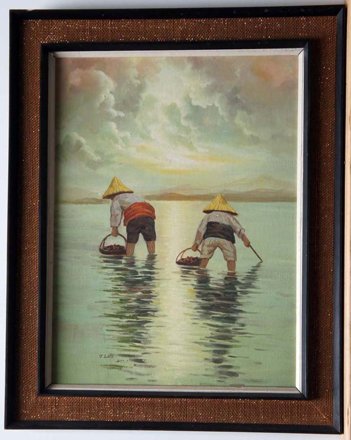 ASIAN ARTISTS: LEE,  J.L AND ARTIST UNKNOWN,  TWO OILS