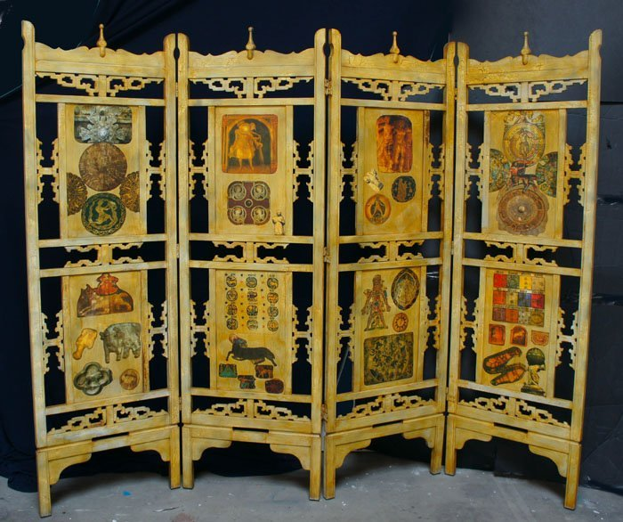 ARTIST UNKNOWN,   ZODIAC SCREEN,   c. 1950-1970,