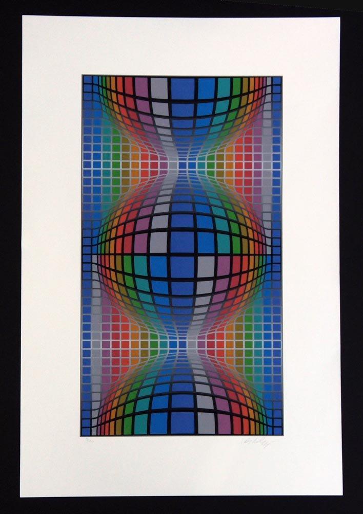 VASARELY,    VICTOR,  Hungarian/French   b. 1908- d.
