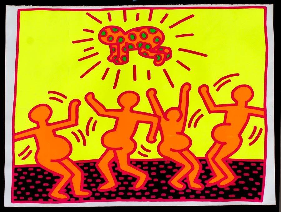 Haring, Keith,  American 1958-1990,