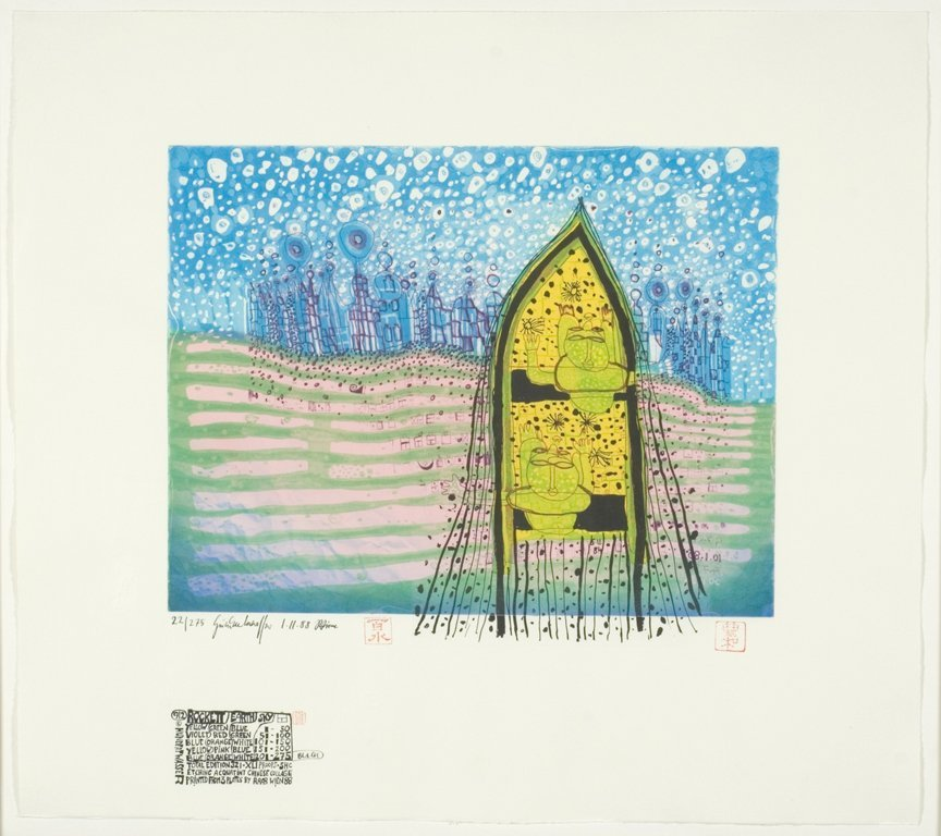 Hundertwasser, Friedensreich ,  Austrian 1928-2000,