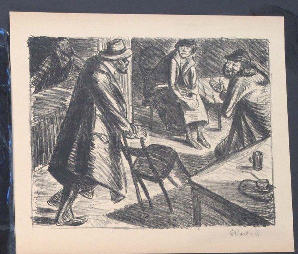 414:     BARLACH,  ERNST  German (1870-1938)
