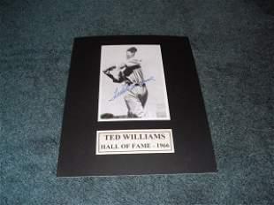 Ted Williams autograph Photo w/COA