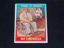 """1959 Topps ROY CAMPANELLS, """"Symbol of Courage"""""""