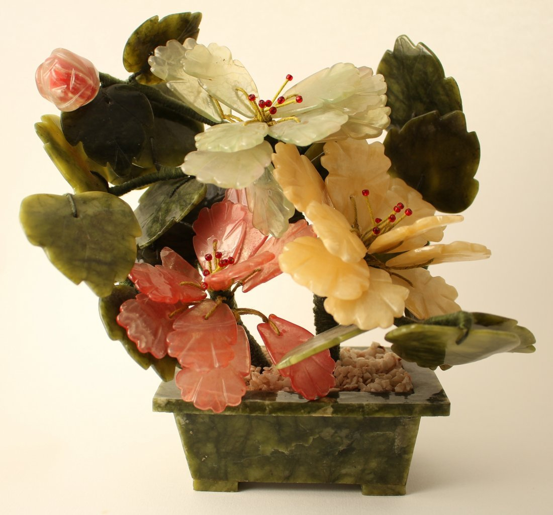 Chinese stone bonsai jade tree