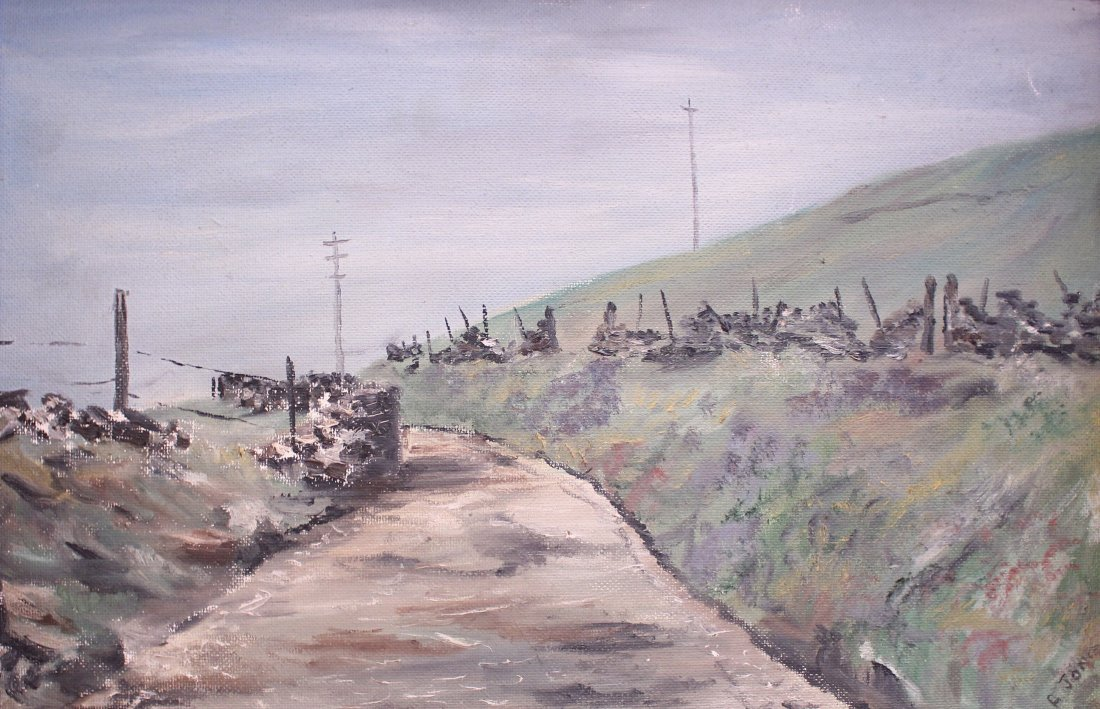Country landscape, signed A Jones, oil on board