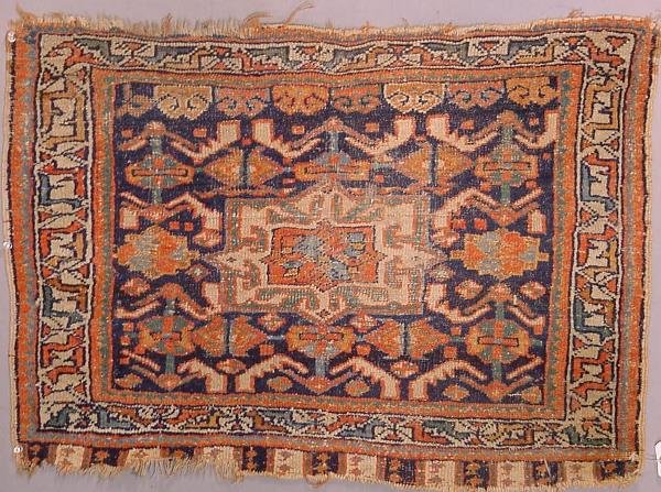 1: Oriental rug, South Persian bag