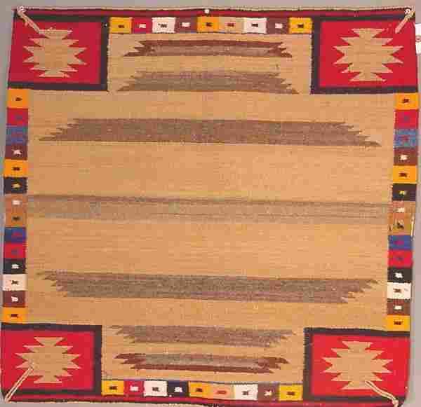 American Indian rug, single saddle blanket