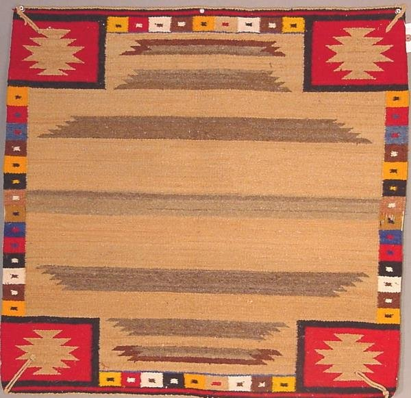3: American Indian rug, single saddle blanket