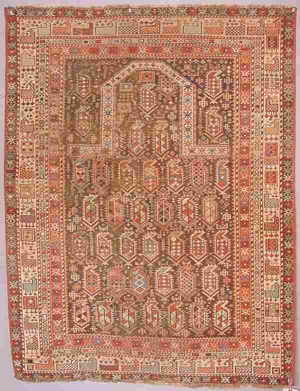 Oriental rug, Rare animal border, Black Marasali