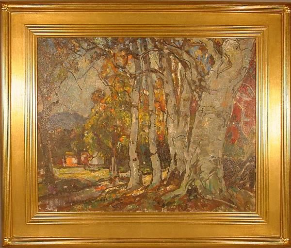 Oil painting, American, landscape