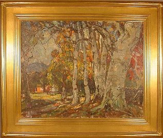 19: Oil painting, American, landscape