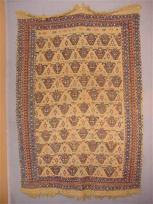 Oriental rug early caucasian cover