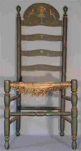 Chair antique paint decorated