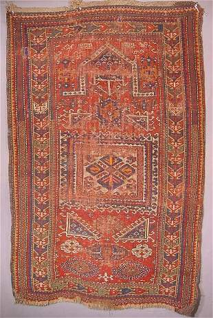 Oriental rug, dated prayer