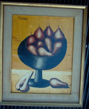 213: O/C painting signed Monreal French