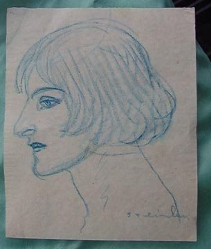 218: Theophile Steinlen, cayon on paper