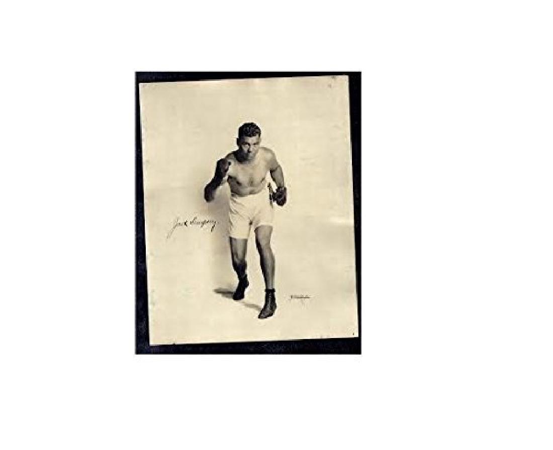 JACK DEMPSY SIGNED APEDA 8X10 VINTAGE PHOTOGRAPH HIGH