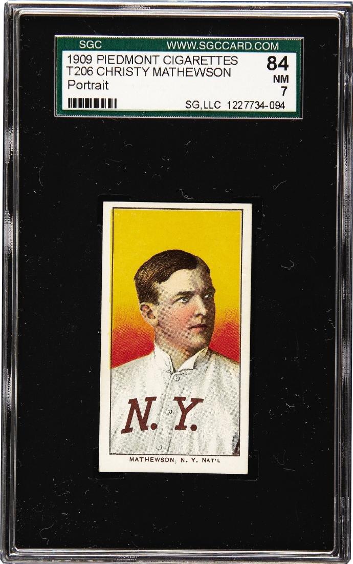 1909-11 T206 Christy Mathewson, Portrait SGC 7 84 NM