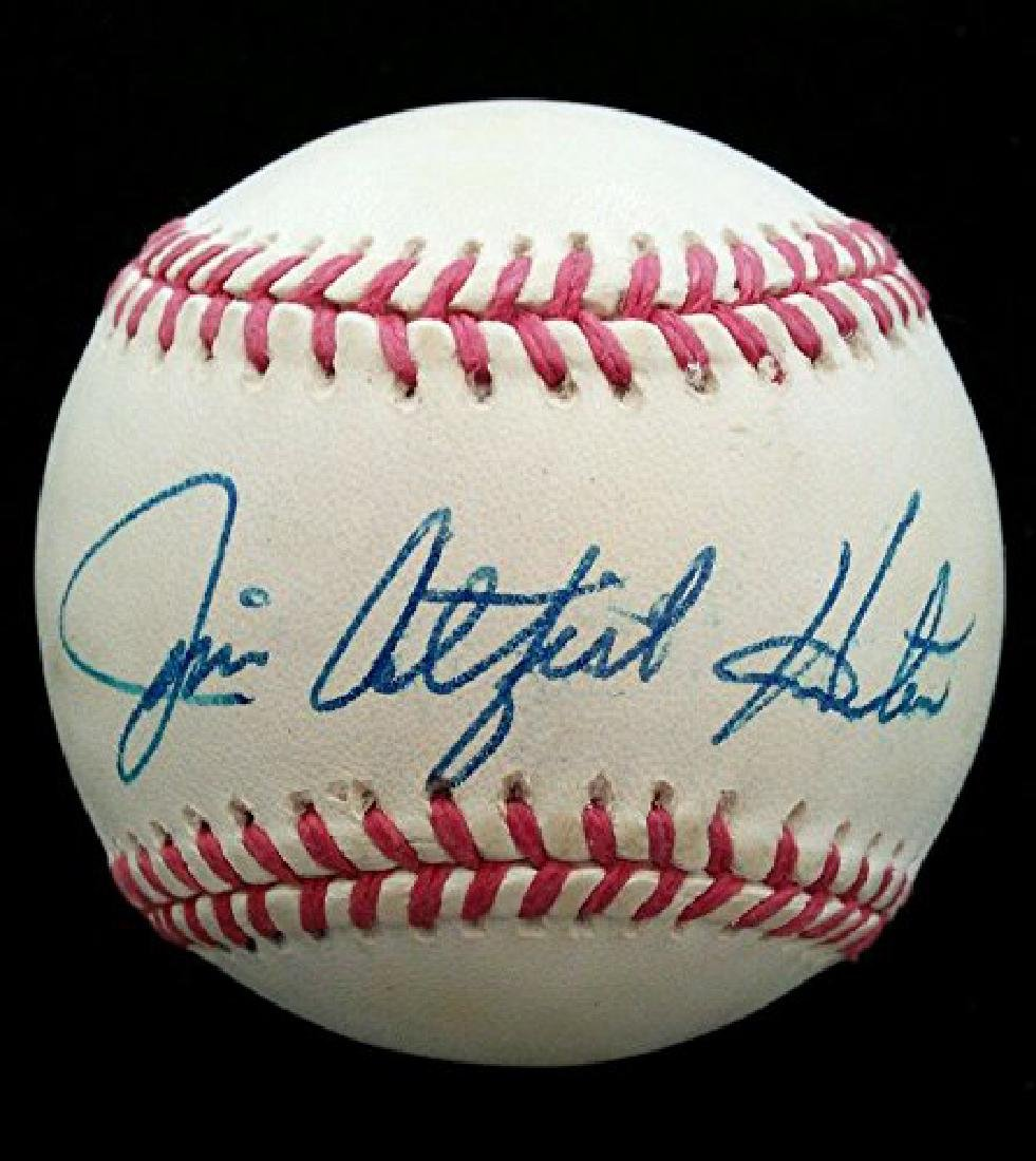 JIM CATFISH HUNTER SIGNED OFFICIAL AMERICAN LEAGUE